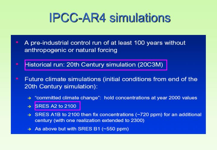 IPCC-AR4 simulations