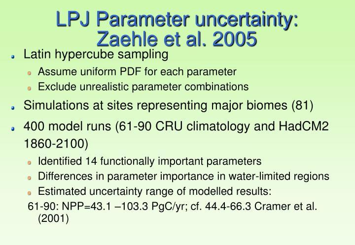 LPJ Parameter uncertainty: