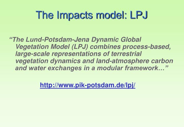 The Impacts model: LPJ
