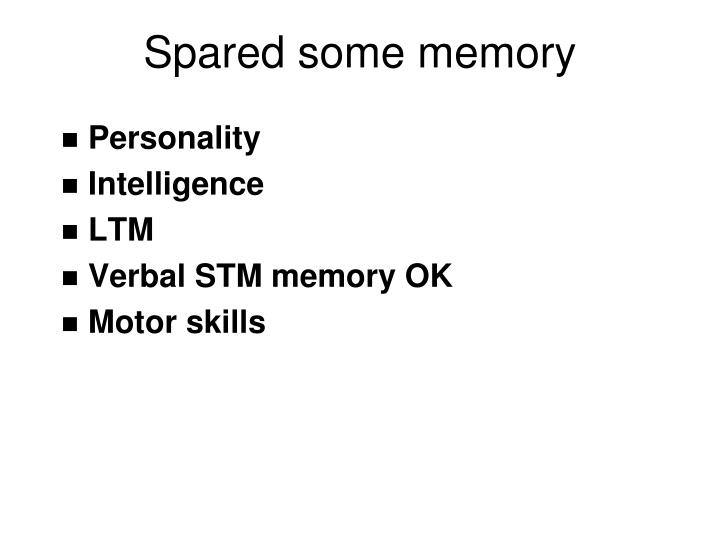 Spared some memory