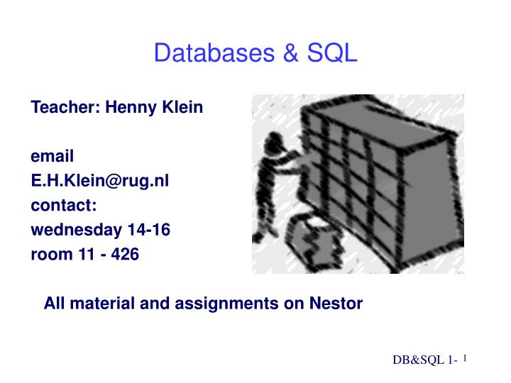 databases sql