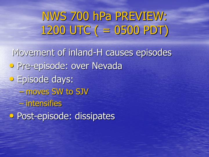 NWS 700 hPa PREVIEW: