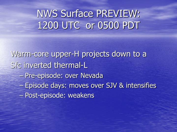 NWS Surface PREVIEW: