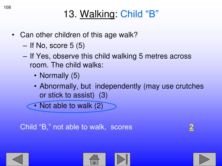 Can other children of this age walk?