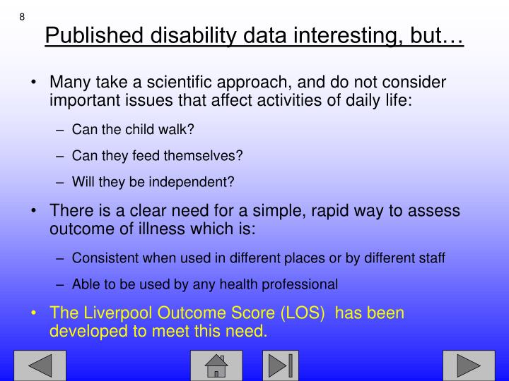 Published disability data interesting, but…