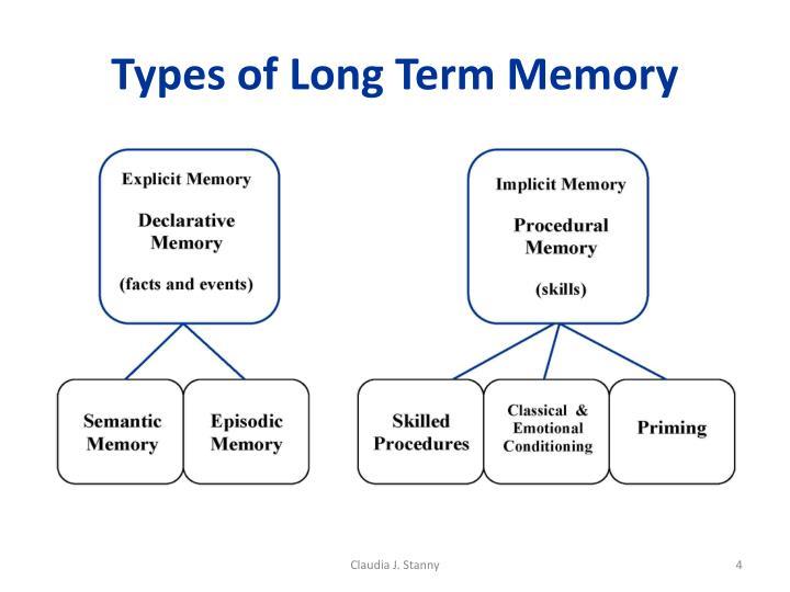 Types of Long Term Memory