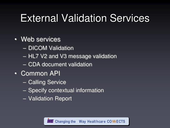 External Validation Services