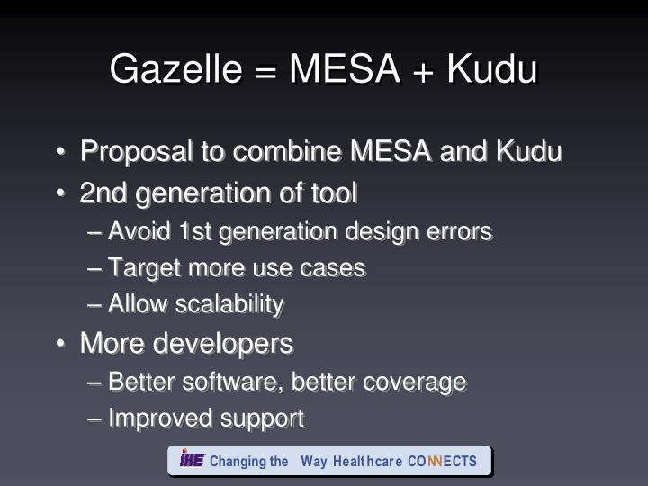 Gazelle = MESA + Kudu