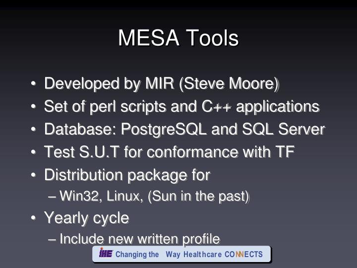 MESA Tools