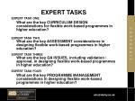 expert tasks