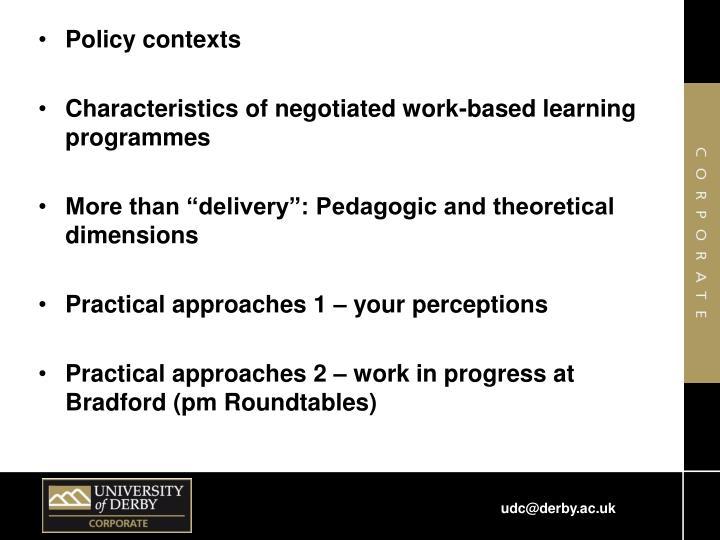 Policy contexts