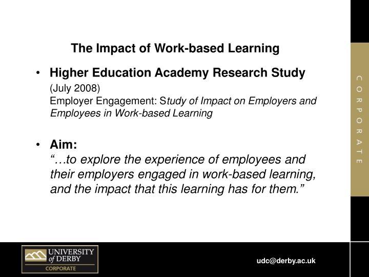 The Impact of Work-based Learning