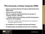 the university of derby corporate offer