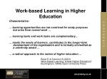 work based learning in higher education