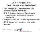 vermittlungsstelle berichtszeitraum 2004 20051