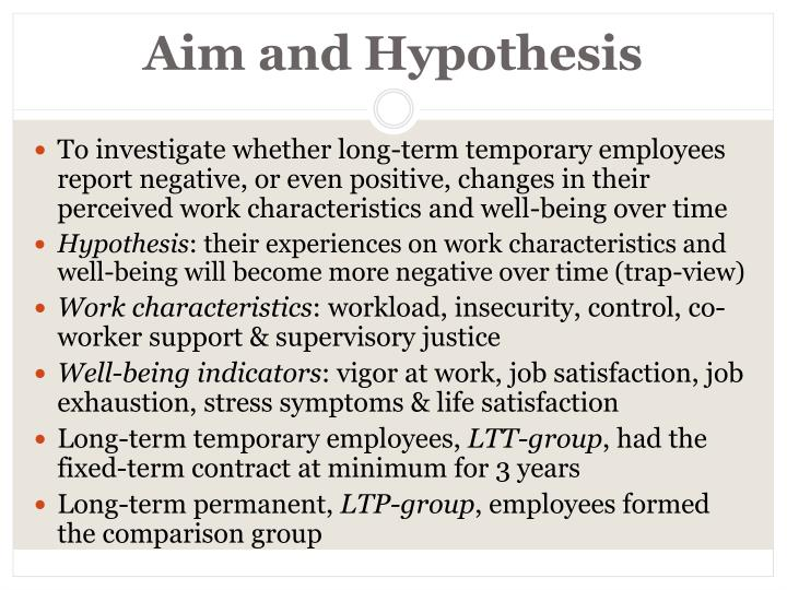 Aim and Hypothesis