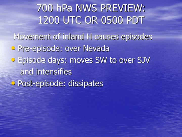 700 hPa NWS PREVIEW: