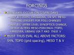 forcings