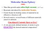 molecular beam epitaxy mbe