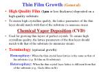 thin film growth general