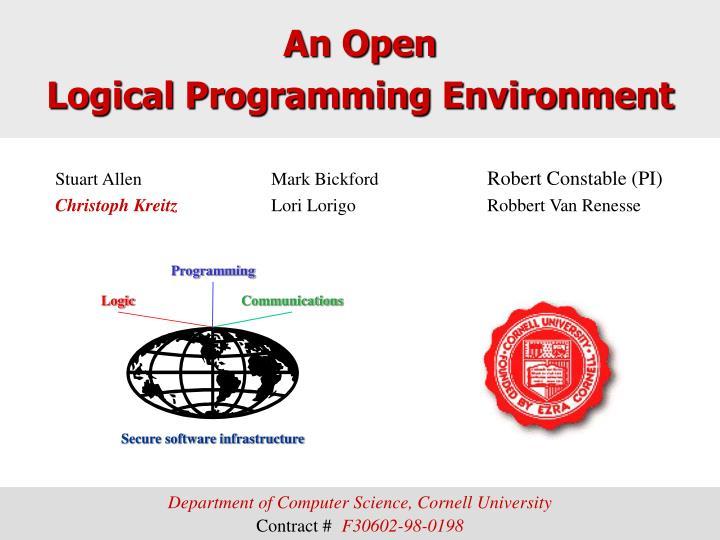 an open logical programming environment