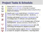 project tasks schedule