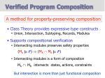 verified program composition