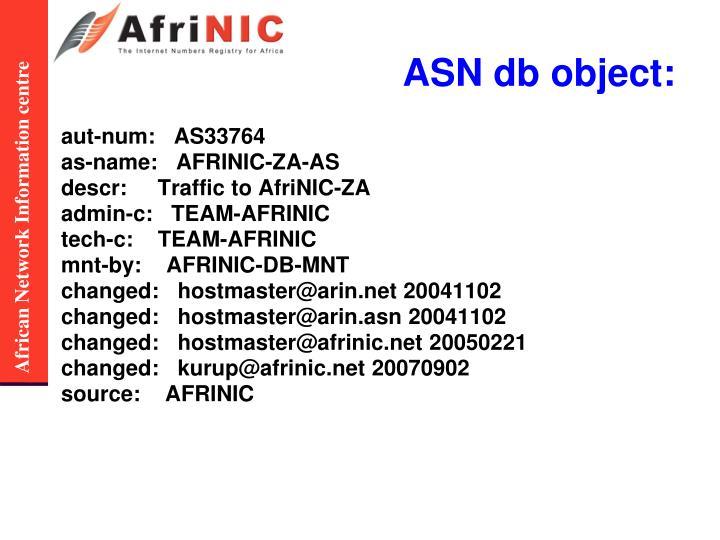ASN db object:
