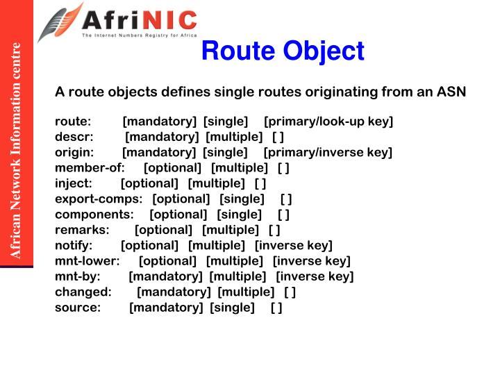 Route Object