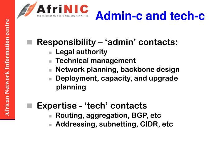 Admin-c and tech-c