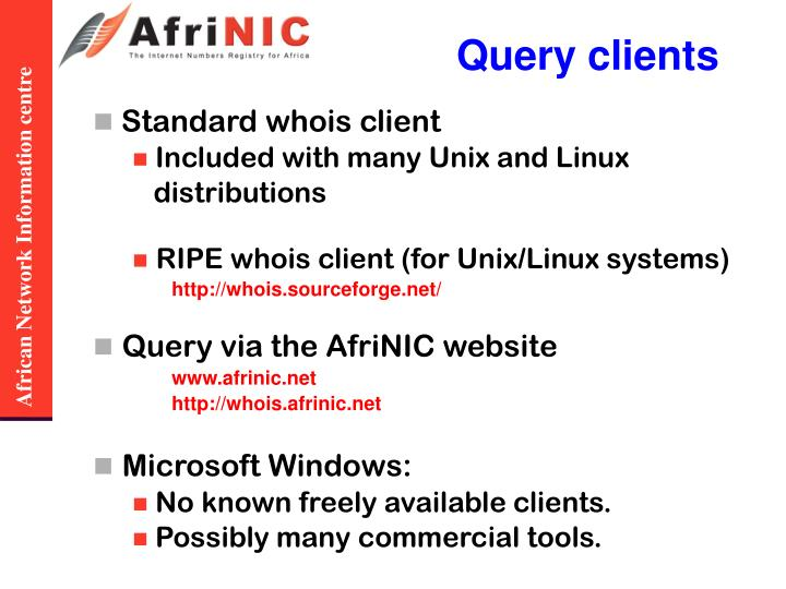 Query clients