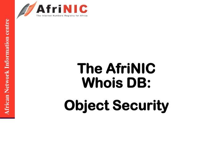 The AfriNIC Whois DB: