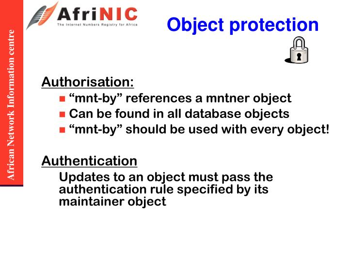 Object protection