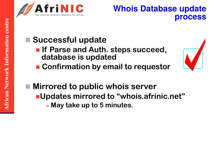 Whois Database update process