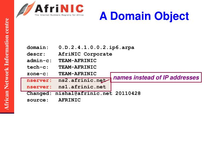 A Domain Object