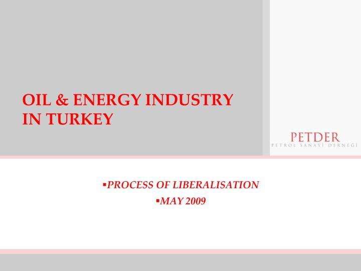 oil energy industry in turkey