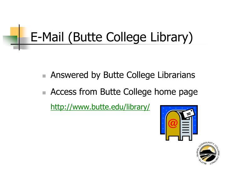 E-Mail (Butte College Library)