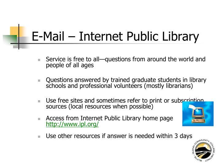 E-Mail – Internet Public Library