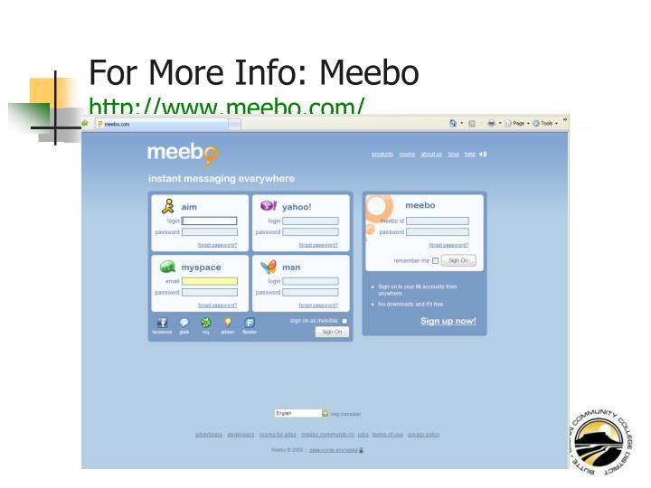 For More Info: Meebo