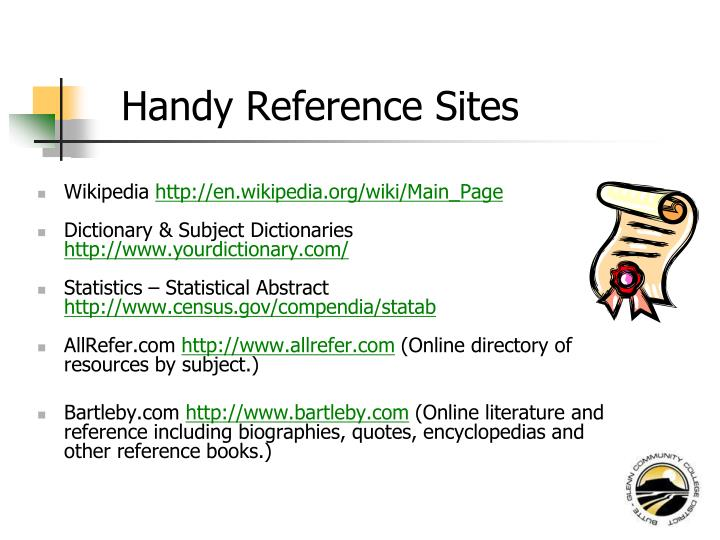 Handy Reference Sites