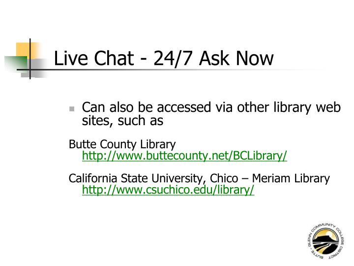 Live Chat - 24/7 Ask Now