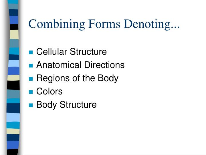 Combining Forms Denoting...