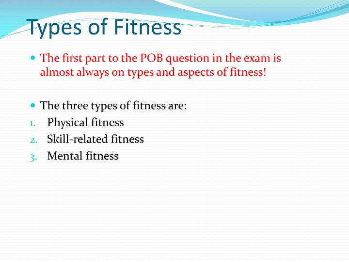 Types of Fitness