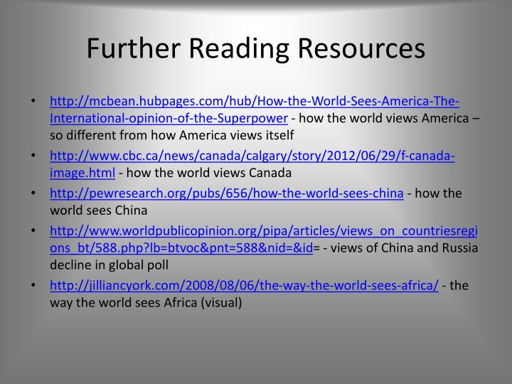 Further Reading Resources
