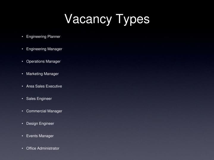 Vacancy Types