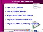 valuebill requirement