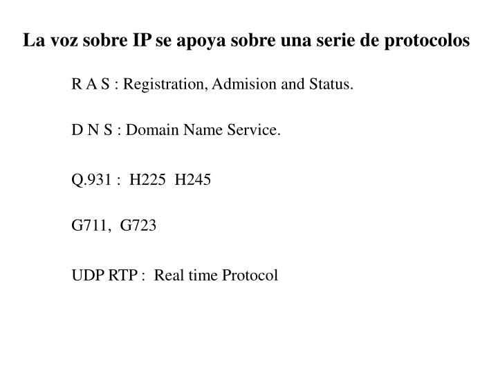La voz sobre IP se apoya sobre una serie de protocolos