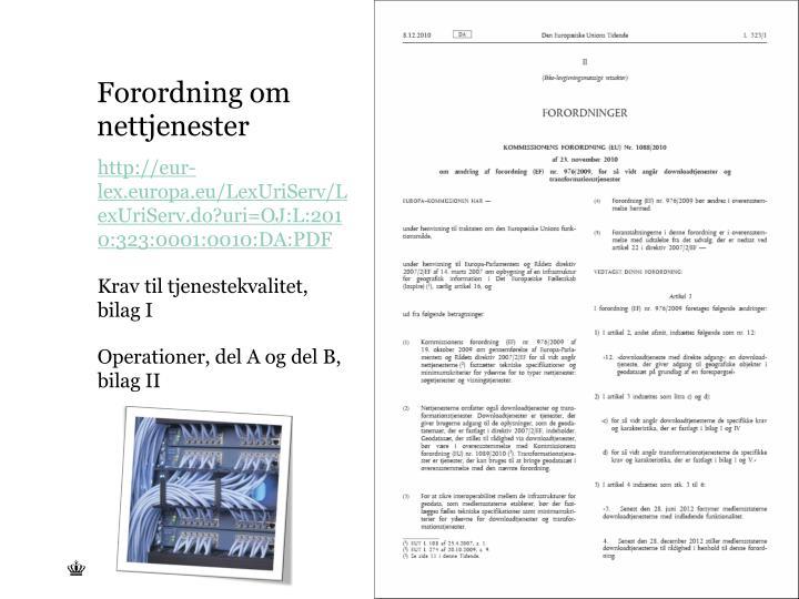Forordning om nettjenester