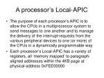 a processor s local apic