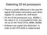 detecting 32 bit processors